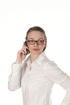 Free Beautiful Girl Speaking On The Phone Stock Photo - 15581530