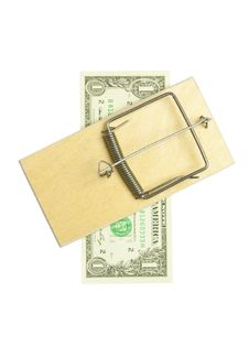 Free Mousetrap And Dollar Bill Stock Photos - 15581583