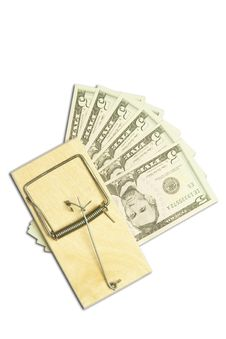 Free Mousetrap And Dollar Bills Royalty Free Stock Photography - 15581617