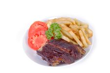 Free Ribs And Fries Royalty Free Stock Photography - 15583347