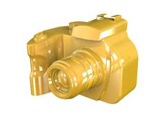 Free 3d Render Of DSLR Camera Royalty Free Stock Images - 15583479
