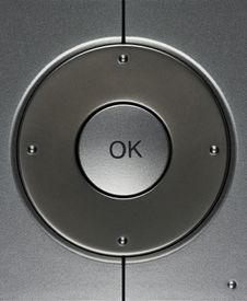 Ok Button Of Steel Colour Royalty Free Stock Photography