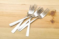 Free Fork On The Wood Stock Photos - 15584233