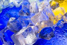 Colour Ice Stock Photography