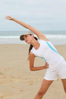 Free Stretching By The Beach Stock Photography - 15586532