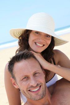 Free Happy Couple On Holidays Royalty Free Stock Image - 15586576