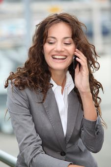 Free Closeup Of Happy Businesswoman Stock Photography - 15586622