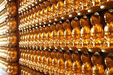 Free Gold Buddha Wall Royalty Free Stock Images - 15586749