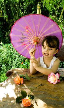 Free Girl In Garden Stock Images - 15587354