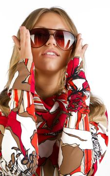 Free Woman Is Wearing Sunglasses Royalty Free Stock Photography - 15587937