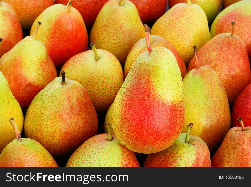 Juicy, sweet pears
