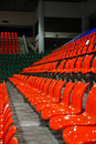 Free Bright Red Stadium Seats Royalty Free Stock Photo - 15598235