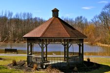 Free New Jersey Springtime Gazebo Royalty Free Stock Images - 15590889