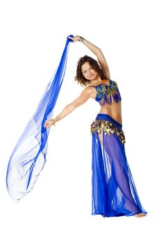 Free Portrait Of A Beautiful Belly Dancer Stock Photography - 15591282