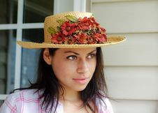 Free Girl With Hat Royalty Free Stock Photo - 15591305