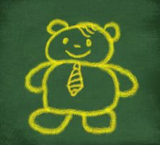 Sketch Of Yellow Teddy Bear Royalty Free Stock Photo
