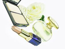Free Cosmetic Set For Makeup Royalty Free Stock Photography - 15592907