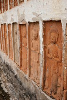 Free Buddha On Wall Stock Images - 15593164
