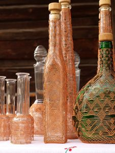 Free Bottles Hand-decorated Wire Stock Image - 15593391