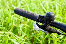 Mountain Bike Handlebar Detail Stock Photography