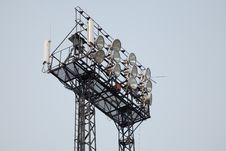 Free Stadium Light And Cellular Antennas Stock Images - 15594054