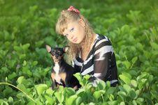 Free Woman And Dog Stock Image - 15594121