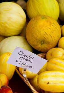 Free Oriental Melons Royalty Free Stock Images - 15594879