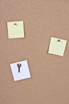 Free Cork Bulletin Board Royalty Free Stock Images - 15594939