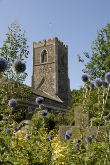 Free Village Of Burstwick Church. Stock Photography - 15594992