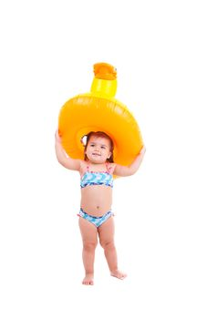 Free Lovely Child With Air-toy Stock Image - 15595311