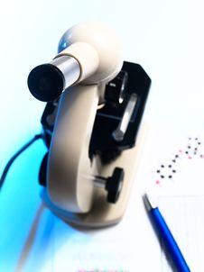 Free Microscope On White Background Stock Photo - 15595420
