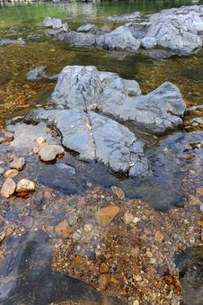 Pristine Rocky River Royalty Free Stock Photography
