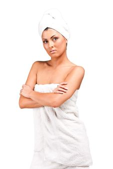 Free A Young Woman In Towel Royalty Free Stock Image - 15595666