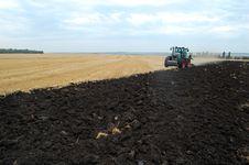 Plowing Field Stock Photo