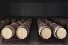 Free Wine Barrels Royalty Free Stock Photography - 15595877