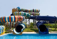 Waterpark In The Open Air Royalty Free Stock Photos