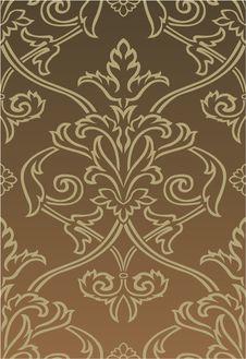 Free Brown Damask Style Wallpaper Stock Image - 15596281