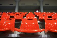 Free Bright Red Stadium Seats Royalty Free Stock Photography - 15598217
