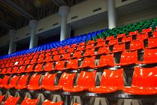 Free Bright Red Stadium Seats Royalty Free Stock Photo - 15598225