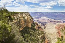Free Cliff Over Grand Canyon Stock Image - 15598441