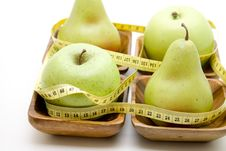 Free Fruit With Tape Measure Royalty Free Stock Image - 15599716