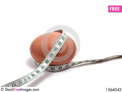 Free Measurement Tape Wrapped Around The Egg Stock Photos - 1566043