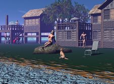 Free Mountain Lake Royalty Free Stock Images - 1560119