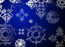 Free Snowflakes Background Stock Images - 1561144