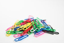 Free Colored Paper Clips Stock Photos - 1561833