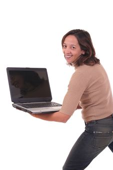 Free Woman With Laptop II Stock Images - 1562044