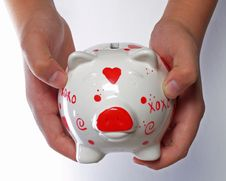 Free Piggy Bank Royalty Free Stock Photography - 1562827