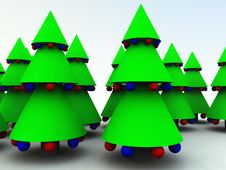 Free Xmas Trees 10 Stock Photo - 1562930