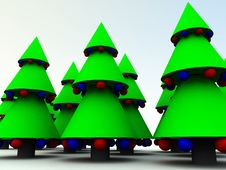 Free Xmas Trees 11 Stock Photos - 1562933