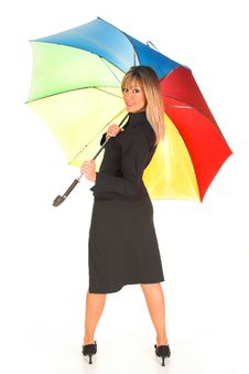 Free Young Girl With Umbrella Royalty Free Stock Photos - 1564448